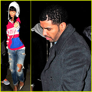 Rihanna & Drake Go Out on Another Dinner Date in Europ