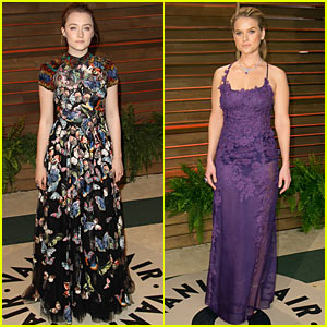 Saoirse Ronan & Alice Eve Glam Up The Vanity Fair Ocsars Party 2014