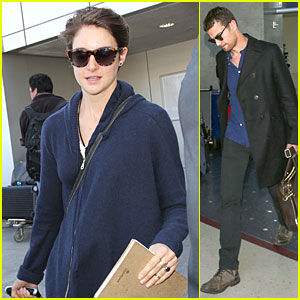 Shailene Woodley & Theo James Diverge to LAX Airport with Sunglasses!