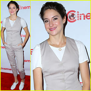 Shailene Woodley Opts for Slacks & a Vest for CinemaCon 2014 Red Carpet!