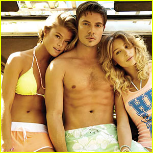 Shirtless Josh Henderson's Six Pack is Unreal in Op's Latest Campaign with Bikini-Clad Nina Agdal!