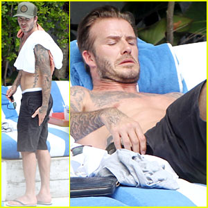 Pictures of Shirtless David Beckham Are Quite the Friday Treat!
