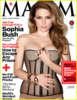 Sophia Bush Exudes Sex in Hot Lingerie for 'Maxim' April 2014