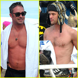 Taylor Kinney Goes Shirtless for Polar Plunge in Chicago!
