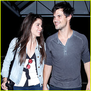 Taylor Lautner & Marie Avgeropoulos Hold Hands & Look So In Love After Dinner Date!