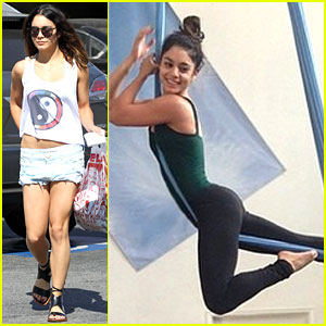 Vanessa Hudgens Flashes Her Calvins in Low Slung Shorts