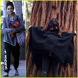 Vanessa Hudgens Loves Hugging Trees - See the Cute Pic