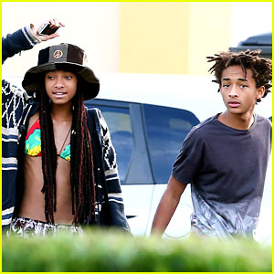 Willow Smith Wears Bikini Top to Dinner with Jaden & Friends