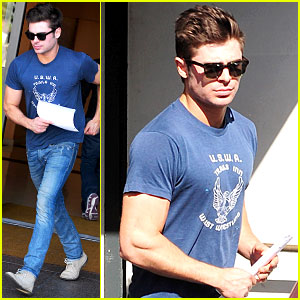 Zac Efron on Filming Shirt