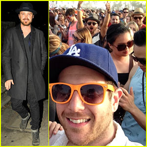 Aaron Paul & Kellan Lutz Photobomb a Couple at Coachella in Hilarous New Pic!