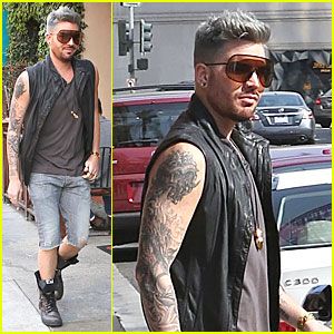 Adam Lambert's Tattooed Guns Are a Sight You Can't Miss!