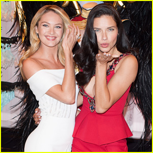 Adriana Lima & Candice Swanepoel Announce Victoria's Secret Fashion Show i