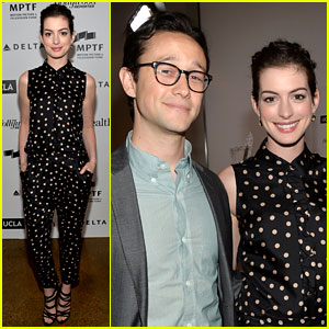 Anne Hathaway & Joseph Gordon-Levitt: 'Dark Knight Rises' Reunion at Reel Stories Event!
