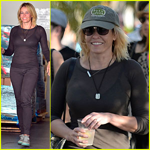 Chelsea Handler Flashes Black Bra in Sheer Top at Book Signing!