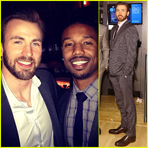 Chris Evans Passes the 'Fantastic Four' Torch to Michael B. Jordan!