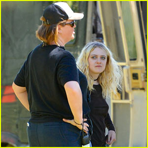 Dakota Fanning Sports Teased Hair & Dark New Look for 'Untitled Gerardo Naranjo Project'