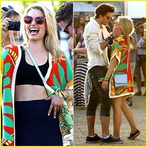Dianna Agron Captures Coachella Moments with Thomas Cocquerel