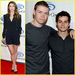 Dylan O'Brien & Keri Russell: 20th Century Fox Presents at Wondercon 2014!