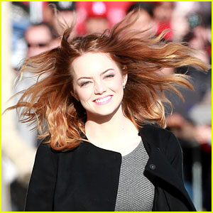 Emma Stone's Hair Catches a Crazy Wind Gust - See the Funny Photo!