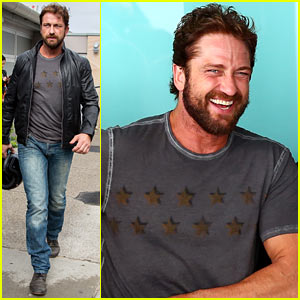 Gerard Butler's Smile is Irresistible at the Ellery Fashion Show