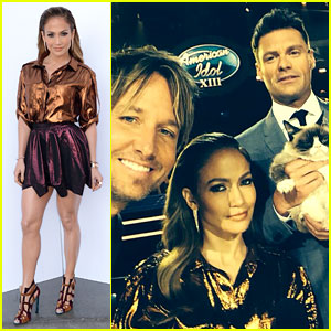 Jennifer Lopez & Keith Urban Welcome Grumpy Cat to 'Idol'!