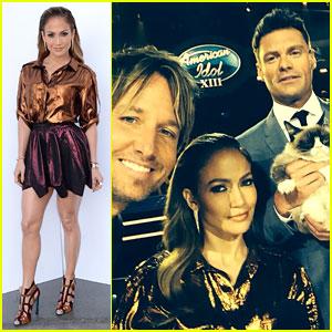 Jennifer Lopez & Keith Urban Welcome Grumpy Cat to 'Idol'!