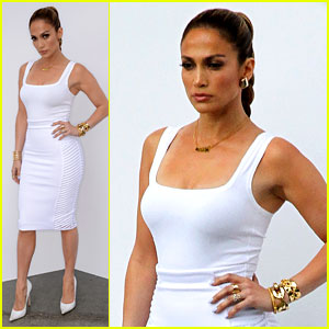f44a6dee4bf Jennifer Lopez Is White Hot in Form-Fitting Outfit on 'Idol ...