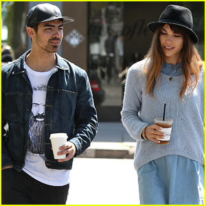 Joe Jonas & Blanda Eggenschwiler Use Fashionable Hats to Keep Sun's Rays Away!