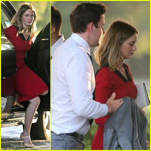 John Krasinski & Wife Emily Blunt Attend 'Office' Co-Star Brian Baumgartner's Wedding!