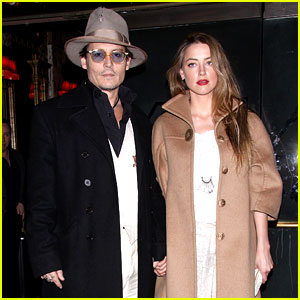 Johnny Depp & Amber Heard Hold Hands at '