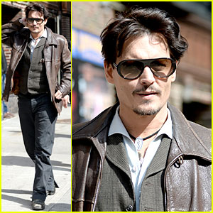 Johnny Depp Visits David Letterman Amid Retirement News!