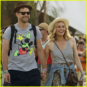 Joshua Jackson & Diana Kruger Are Inseparable at Coachella!