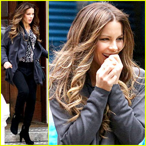 Kate Beckinsale Gets the Giggles for 'Absolutely Anything'!