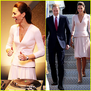 Kate Middleton & Prince William Hit the DJ B
