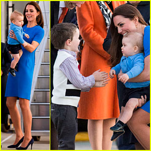 Kate Middleton & Prince George Wear Matching E