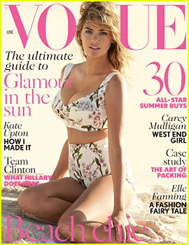 Kate Upton to 'British Vogue': I Will Be an Example for Girls