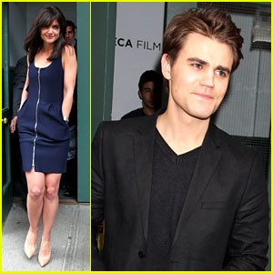Katie Holmes & Paul Wesley Help Kick Off the Tribeca Film Fest!
