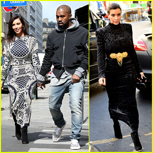 Kim Kardashian Changes Into Two Dresses for Paris Shopping Spree with Kanye West