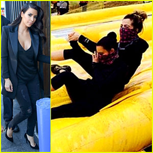 Kim Kardashian Does a Mud Run with Khloe - See the Photos!