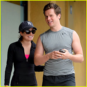 Lea Michele Goes for a Hike with Her Buff BFF Jonathan Groff!