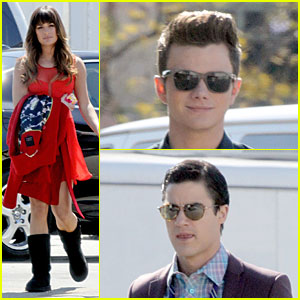 Lea Michele Gets Ready to Dance with 'Glee' Co-Stars!