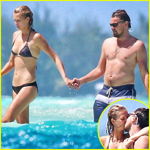 Leonardo DiCaprio & Toni Garrn Kiss & Hold Hands in Bora Bo