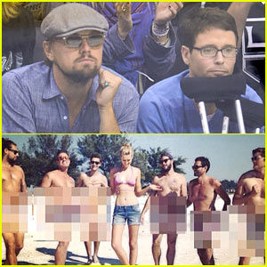 Leonardo DiCaprio's Girlfriend Toni Garrn is Surrounded By Naked Men!