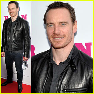 Michael Fassbender Works His Leather Jacket at the 'Frank' Dublin Premiere!