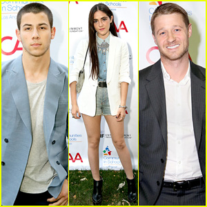 Nick Jonas Looks Mighty Fine in a Baby Blue Blazer for Communities In Schools Of Los Angeles!