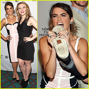 Nikki Reed Takes a Serious Bite Out of Shoe at 'Intramural' Tribeca Premiere!