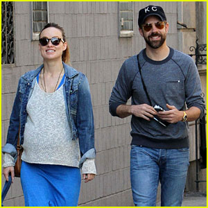 Olivia Wilde Shows Off Growing Baby Bump on Dog Walk