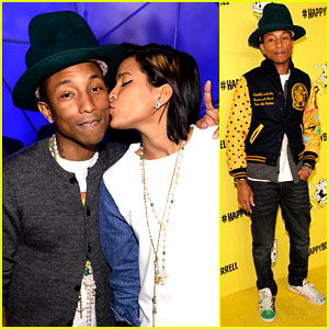 Pharrell Williams Celebrates His 'Happy' 41st Birthday with Wife Helen Lasichanh!