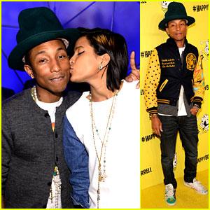 Pharrell Williams Celebrates His 'Happy' 41st Birthday with Wife Helen Lasichanh!