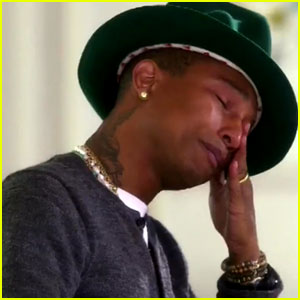 Pharrell Williams Cries 'Happy' Tears Over His Song's Success